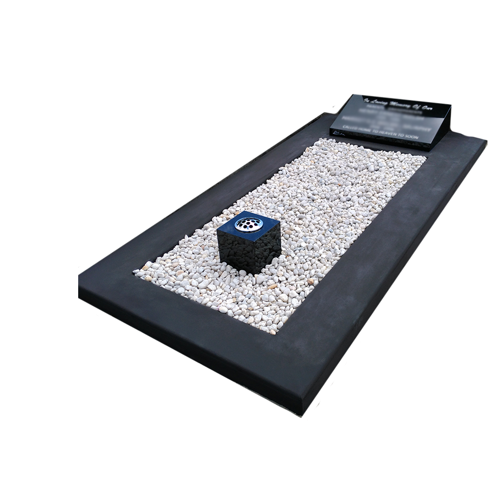 Black Granite Sloper on Full Single Main Base