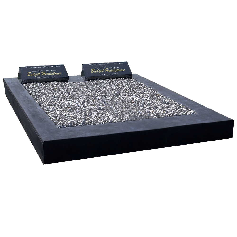 Black Granite Sloper on Full Double Main Base